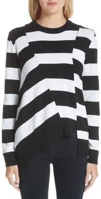 Proenza Schouler Asymmetrical Stripe Sweater