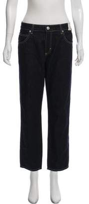 Amo Bow Mid-Rise Straight-Leg Jeans w/ Tags