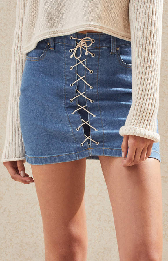 Pacsun Feel Good Lace-Up Skirt