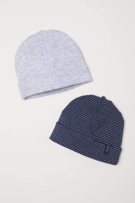 H&M 2-pack Jersey Hats - Blue