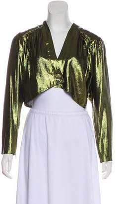 Saint Laurent Vintage Metallic Cropped Evening Jacket