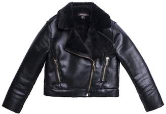 Imoga Esmae Faux Fur Moto Jacket (Little Girls & Big Girls)