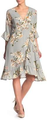 June & Hudson Floral High/Low Wrap Dress