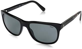 Polo Ralph Lauren Men's 0Ph4116 500187 Sunglasses, (Black/Grey)
