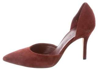 Vince Suede Pointed-Toe Pumps