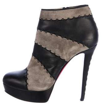 Christian Louboutin Platform Round-Toe Ankle Boots
