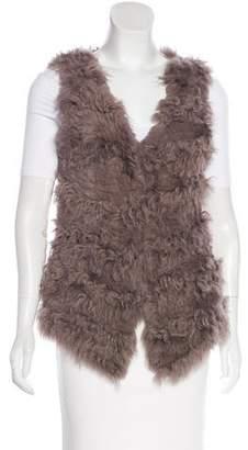 Adrienne Landau Woven Fur Vest
