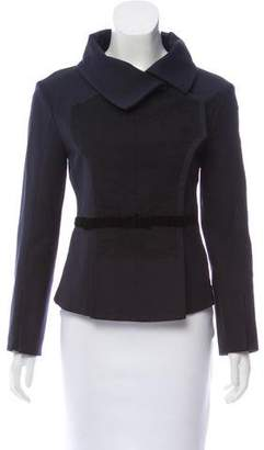 Nina Ricci Lace-Accented Structured Jacket