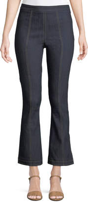 Cinq à Sept Tinsley Side-Zip Flare-Leg Jeans