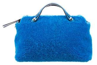Fendi Shearling By The Way Bag Blue Shearling By The Way Bag