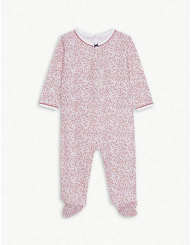 Floral print cotton sleepsuit 3-24 months