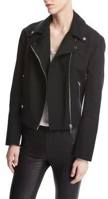 Helmut Lang Moto Biker Cotton Jacket, Black $575 thestylecure.com