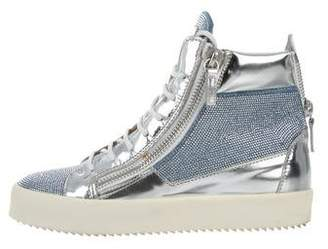 Giuseppe Zanotti May London Leather Sneakers