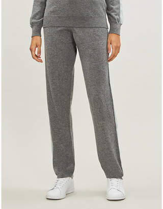 Johnstons Lola contrast-trim cashmere jogging bottoms