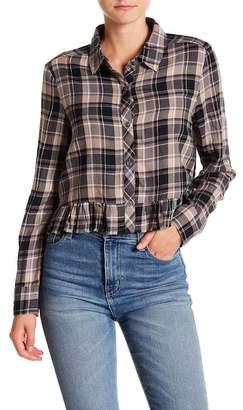 Abound Ruffle Edge Flannel Shirt