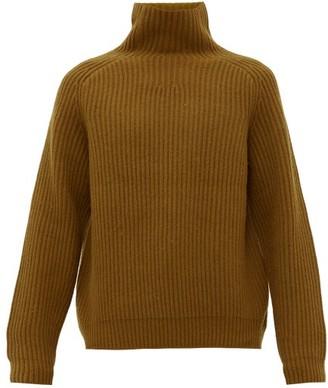 Acne Studios Kally Ribbed Wool Sweater - Mens - Dark Yellow