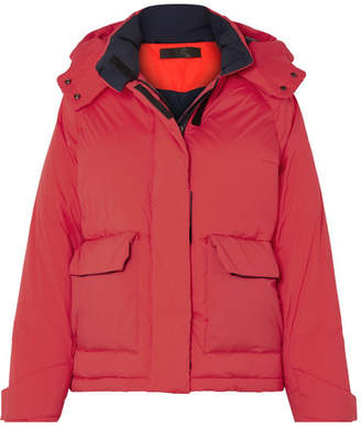 Rag & Bone Aiden Hooded Quilted Shell Jacket - Red