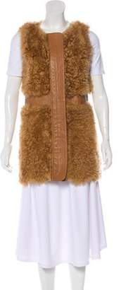 Leith Shearling Zip-Up Vest