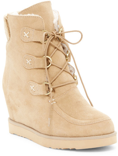 Australia Luxe Collective Australia Luxe Collective Dudley Hidden Wedge Genuine Shearling Boot