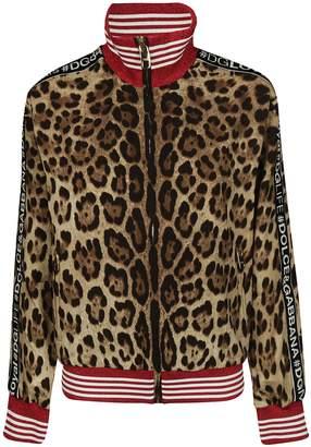 Dolce & Gabbana Leopard Zip Up Bomber