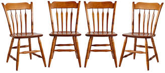 Rejuvenation Set of 4 Modern Windsor Maple Chairs