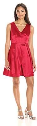 Paris Sunday Women's Sleeveless Sateen Flare Dress