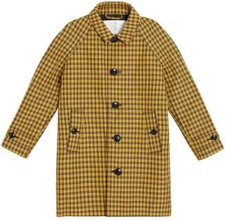 Burberry TEEN Shrunken Check Cotton Blend Car Coat