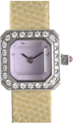 Corum Women's Leather Diamond Watch