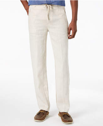 Tasso Elba Men Linen Drawstring Pants