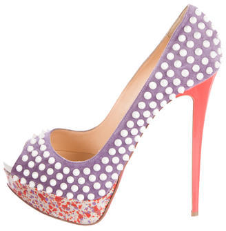 Christian Louboutin  Christian Louboutin Lady Peep Spike Pumps