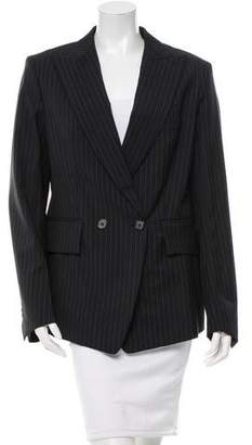 Saint Laurent Pinstripe Double-Breasted Blazer w/ Tags