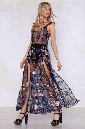 Nasty Gal I Mesh You Embroidered Dress
