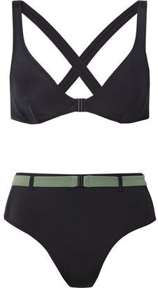 Solid & Striped The Josephine Belted Bikini - Black