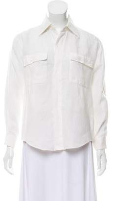 Hermes Linen Button-Up Top
