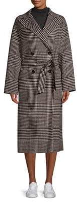 Max Mara Faro Plaid Double-Breasted Coat