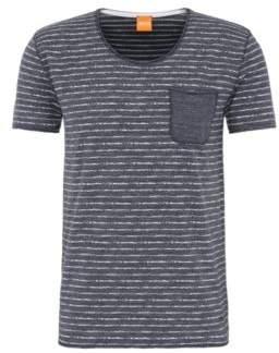 BOSS Hugo Cotton Stripe Pocket T-Shirt Toa M Dark Blue