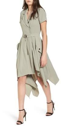 J.o.a. Chriselle x Asymmetrical Trench Dress