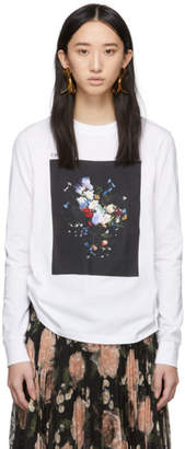 Erdem White and Black Fernley Long Sleeve T-Shirt