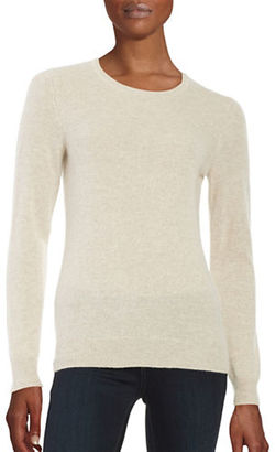 Lord & Taylor Basic Crewneck Cashmere Sweater $160 thestylecure.com