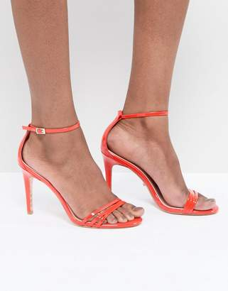 Dune Bright Orange Two Part Strappy Heeled Sandal