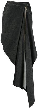 Couture Atu Body draped denim skirt