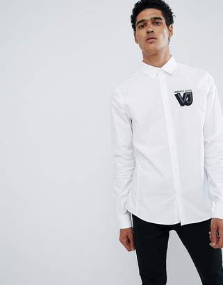 Versace Shirt In White With Small Logo
