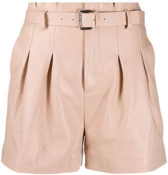 RED Valentino paperbag leather shorts