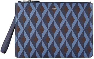 Dunhill Engine Turn Print Pouch