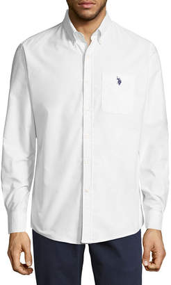 U.S. Polo Assn. USPA Stretch Oxford Sportshirt Mens Long Sleeve Button-Front Shirt