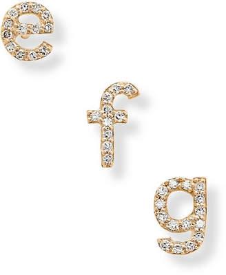 STONE AND STRAND - Alphabet 14-karat Gold Diamond Earring