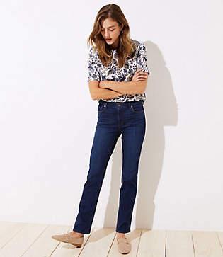 LOFT Petite Modern Bootcut Jeans in Dark Classic Indigo Wash