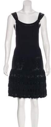 Alaia Embellished Rib Knit Dress