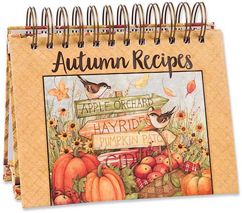 Autumn Harvest Easel Recipe Book