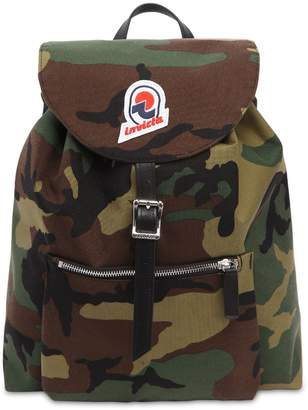 Invicta Alpino Camouflage Canvas Backpack